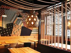 Gather for drinks and imaginative bar bites at a no-reservations izakaya then roll downstairs for restorative ramen at the handsome Penn Quarter two-in-one. Ramen Restaurant, Chinese Restaurant, Restaurant Concept, Restaurant Design, Restaurant Ideas, Japanese Bar, Sushi Restaurants, Japanese Interior, Commercial Interiors