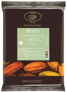 IRAPA® Chocolate con Leche con 40,5% de cacao, tiene una textura cremosa y un rico sabor de cacao que es acentuado por un toque de caramelo, provisto por un punto de azúcar morena.