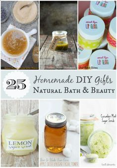 Some last minute #Christmas #DIY #gift ideas: Homemade DIY Gifts: 25 Natural Bath and Beauty Recipes