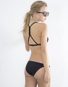 Sujetador bikini cruzado | Blanco