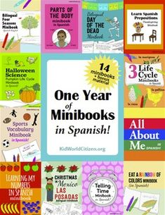 Are you looking for a Spanish curriculum for elementary students? We have collected 14 minibooks in this fantastic packet! Teachers and parents can use these minibooks throughout the year to teach new Spanish vocabulary or to reinforce previously taught material.