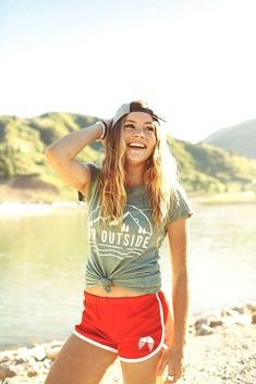 Go outside tee, Camping Outfits, Fishing Outfits, Surfer Girl Style, Thing 1, Go Outside, T Rex, Spring Outfits, The Outsiders, Bikini