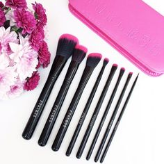"""@allthatlozloves: """"I'm so excited to have these gorgeous @furlesscosmetics brushes in my life! They're the softest brushes I've ever used and how stunning are the pink tips on the brushes, to top it off they're faux fur! This is the perfectly pink brush set which comes with a pink travel case! I can't wait to collect more of the @furlesscosmetics brushes as they're so incredible 😍🙌🏻💗"""" Shop: http://furlesscosmetics.com/pink-makeup-brush-set"""