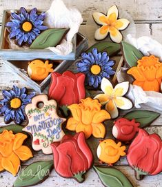 Decorated Daffodil Cookies
