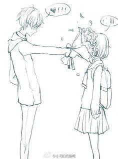 ideas funny anime couples kawaii boyfriends for 2019 Art Manga, Manga Drawing, Anime Art, Drawing Base, Manga Love, Anime Love, Anime Guys, Kawaii Anime, Couple Manga