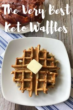 Healthy Recipes : Illustration Description The Very Best Keto Waffles are light, fluffy, and delicious! This is a perfect Keto breakfast! Keto waffles / Low Carb Waffles / Keto breakfast / low carb breakfast / keto recipes / low carb recipes -Read More – Keto Foods, Keto Snacks, Keto Fat, Low Carb Keto, Low Carb Recipes, Diet Recipes, Healthy Recipes, Recipes Dinner, Vegetarian Recipes