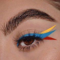 Edgy Makeup, Makeup Eye Looks, Eye Makeup Art, Crazy Makeup, Cute Makeup, Pretty Makeup, Skin Makeup, Makeup Inspo, Eyeshadow Makeup