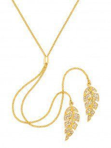 Double Feather Y-Chain Jewelry