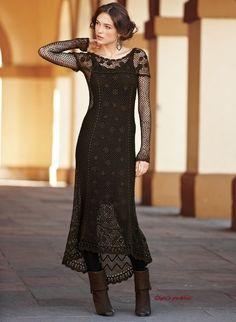 Мобильный LiveInternet Коричневое платье из перуанской коллекции крючком. | Olgapochkina - Дневник Olga_from_Volga |