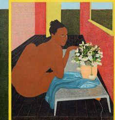 "Mequitta Ahuja, Fingering Vanitas, Oil on Canvas, 84""X80"" 2015"