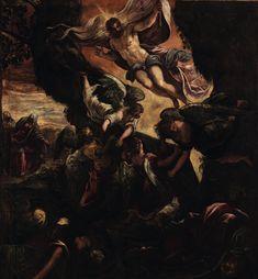 The Resurrection of Christ / La Resurrección de Cristo / La Resurrezione di Cristo //  1578-1581 // Tintoretto // Sala Capitolare / Scuola Grande di San Rocco, Venice // #Jesus #Risen #Easter #Pascua