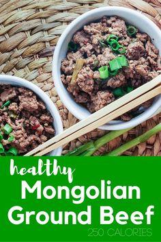 Healthy Mongolian Ground Beef - Slender Kitchen