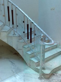 stainless steel handrails Steel Railing Design, Glass Railing, Balcony Railing, Staircase Railings, Staircase Design, Staircases, Balcony Glass Design, Stainless Steel Stair Railing, Stairway Lighting