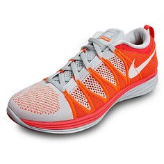 best website 3f5b3 152f9 NIKE FLYKNIT LUNAR 2 PURE PLATINUM ATOMIC ORANGE LIGHTWEIGHT 620465  155