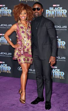 Sterling K. Brown & Ryan Michelle Bathe from Black Panther's Hollywood Premiere  Date night done right! The This Is Us star and his wife show up in style for the evening premiere.