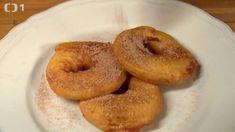 Jablka v těstíčku Apfelküchlein (Kluci v akci) Bagel, Bread, Food, Apple Tea Cake, Brot, Essen, Baking, Meals, Breads