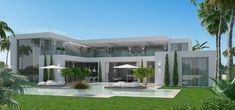 Our award-winning team of Marbella architects design clean and contemporary homes, working together with our interior designers to ensure the best outcome. Modern Villa Design, Modern Home Interior Design, Dream Home Design, Facade Design, Exterior Design, Ultra Modern Homes, House Plans Mansion, House Outside Design, Luxury Homes Dream Houses
