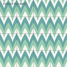 Leaf Zag, Santa Barbara Collection - the Cement Tile Collection