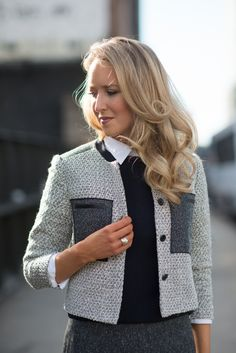The Classy Cubicle l Styles Ann Taylor Tweed Jacket