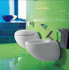 Alessi bathroom. Bidet faucet: Il Bagno Alessi One by Oras, designed by Stefano Giovannoni.