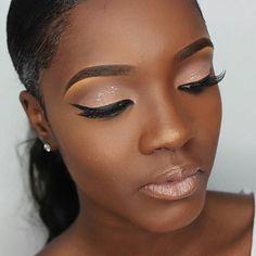 Trendy Makeup Looks For Black Women Make Up Faces Black Girl Makeup, Girls Makeup, Dark Skin Makeup, Make Up Looks, Braut Make-up, Cute Makeup, Simple Makeup, Perfect Makeup, Colorful Makeup
