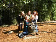 Posing at our Sisterhood Retreat to the Atlanta Zoo