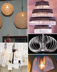 Ever since I discovered all the great resources for lighting projects in my area, I've really been into the idea of making my own fixture of some kind. Until the light bulb goes off in my head, I've been inspired by these inventive lighting pieces by other creatively minded handy-people.