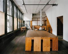 Donald Judd's studio 101 Spring St NY NY. Kitchen on 2nd floor. Via design observer (more pics on the site)