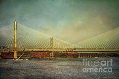 Cable Stayed Bridge, Three Bridges, The Forth, World Heritage Sites, Golden Gate Bridge, Coast, Instagram Images, Wall Art, Travel