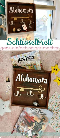 Key alohomora board do-it-yourself easy - diy instructions, & material list for original decorations and homemade gifts gift & decor / for the home / interior / do-it-yourself / hogwarts potter head Easy Gifts, Homemade Gifts, Cool Diy, Easy Diy, Harry Potter Painting, Diy And Crafts, Paper Crafts, Harry Potter Diy, Diy Birthday