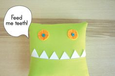 monster tooth pillow pocket