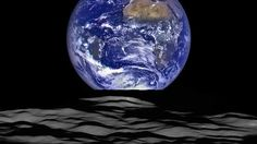 A new NASA photo taken by the Lunar Reconnaissance Orbiter shows the Earth rising above the craggy surface of the moon.