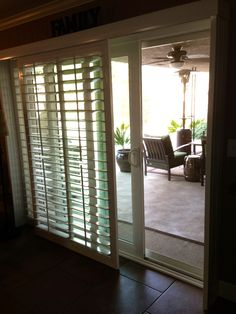 Shutters for sliding glass doors...No more ugly vertical blinds!!