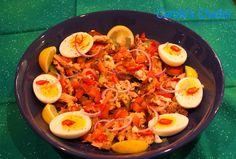 Carole's Chatter: Salmon salad on a Tomato Carpaccio