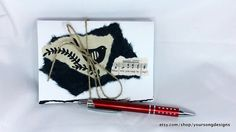 Musical Birds Handmade Greeting Card Set with 5 by YourSongDesigns