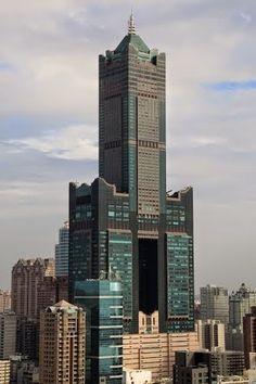 Tuntex Sky Tower, Kaohsiung, Taiwan City Architecture, Beautiful Architecture, Futuristic Architecture, Building Plans, Building Design, Futuristic City, Building Structure, Amazing Buildings, Skyscrapers