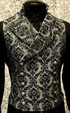 Mens Cavalier Vest by Shrine Clothing Gothic Dresses- nice od school vibe for a themed look Steampunk Fashion, Victorian Fashion, Gothic Fashion, Steampunk Vest, Victorian Goth, Gothic Steampunk, Suit Fashion, Mens Fashion, Mode Costume