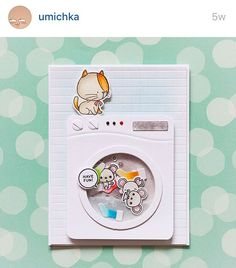Could probably turn that Lawn Fawn oven into a drier and use my MFT cats for this,  Cute!