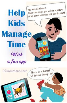 free app helping kids manage time - hope one of the many different signals (clock ticking, music, animal sound, pictures, etc) will work with your child