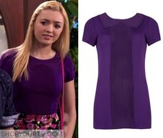Jessie: Season 3 Episode 26 Emma's Purple Collar Ribbed Tee