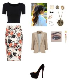 """""""Untitled #369"""" by cristina-974 on Polyvore featuring River Island, Wallis, Christian Louboutin, Cartier, BCBGeneration, Bling Jewelry, Accessorize, women's clothing, women's fashion and women"""