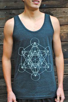 METATRON'S CUBE Sacred Geometry Unisex Tank  #letlifeflow #soulflowercontest