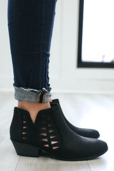 Chance-S Faux Leather Ankle Booties - UOIOnline.com