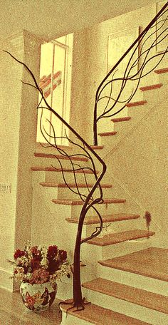 Way cool staircase rails!