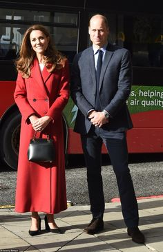 Kate Middleton, 38, appeared effortlessly elegant today as she was joined by Prince William, 38, to launch her lockdown photography exhibition by meeting one of subjects