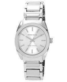 Anne Klein Watch, Women's Silver Tone Adjustable Bracelet 32mm AK-1061SVSV - Women's Watches - Jewelry & Watches - Macy's $65