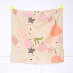 Last Piece - nani IRO Double Gauze Fabric - 2012 Waltz in Peach Pink - Japanese Cotton, Japanese Fabric, Double Gauze Fabric, Pink Tone, Pretty Patterns, Pattern Illustration, Hello Beautiful, Couture, Surface Pattern Design