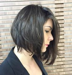 Asymmetrical+messy+bob+hairstyle