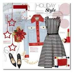 """""""Holiday style"""" by vkmd ❤ liked on Polyvore featuring mode, Carlson Craft, Fendi, Rumour London, Charlotte Olympia, David Jones, Estée Lauder, claire's et holidaystyle"""