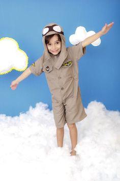 Foto do produto Fantasia Aviador Piloto Avião Infantil Hats, Airplane Pilot, Walking Gear, Costumes, Pilots, Hat, Hipster Hat
